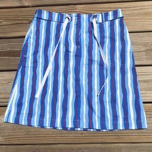 Red White Blue Skirt vertical stripes Mtn Lake